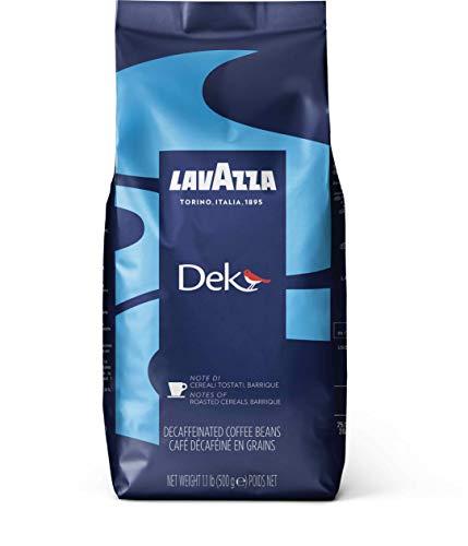 Lavazza Kaffee DEK, Decaf Espresso, Ganze Bohnen Entkoffeiniert, Koffeinfrei, 500g