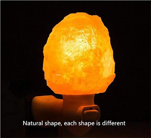 Natuurlijke kristallen zout lamp nachtlicht kleine wandlamp Erz lamp zout lamp nachtlicht warm steen lamp @EU manometer stekker vierkant