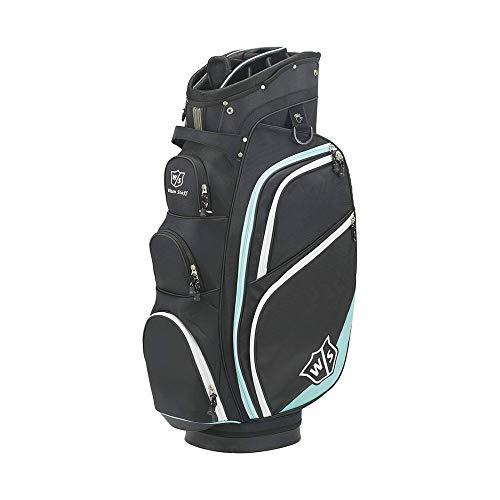 Wilson Cart Plus Golf Bag 2017 New - BLACK/GLACIER BLUE