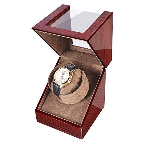 JYTFZD HAOYANG-Caja de Reloj- Relojes Reloj automático Binder Caja de Almacenamiento con Relojes Suaves Flexibles Almohadas impulsadas por Motor japonés Adecuado/hddsbq-816 (Color : Woodgrainbrown)