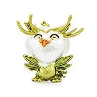 笑顔の小さなフクロウ鳥ブローチ女性金属動物パーティーカジュアルブローチピンギフト