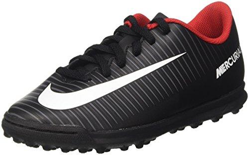 Nike Mercurial X Vortex III TF JR 831954 002 Fußballschuhe, Schwarz (Black/White-Dark Grey), 37.5 EU