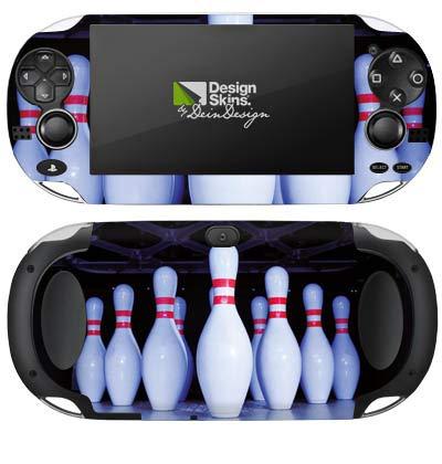 DeinDesign Skin kompatibel mit Sony PS Vita 1000 Aufkleber Folie Sticker Bowling Pins Strike