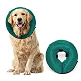 ProCollar Protective Inflatable Recovery Collar for Dogs and Cats - Soft Pet Collar Does Not Block Vision E-Collar - Designed to Prevent Pets from Touching Stitches, Wounds and Rashes (Large)