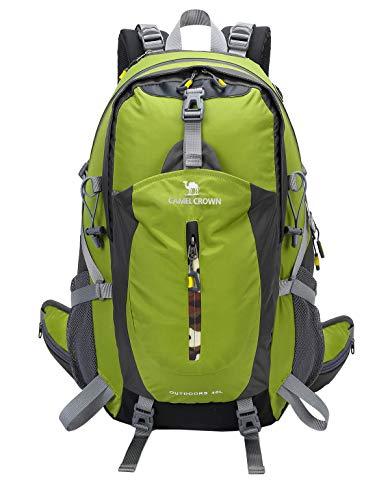 CAMEL 40L Leichter Rucksack Wasserdicht Outdoor Sports Daypack mit Regenschutz für Wandern Laufen Radfahren Klettern und Jagen (Green, 40L)