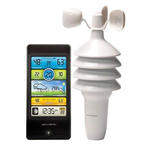 AcuRite 00439 Digital Weather Station Wireless Outdoor Sensor with 3-in-1 Digital Weather Station with Clock