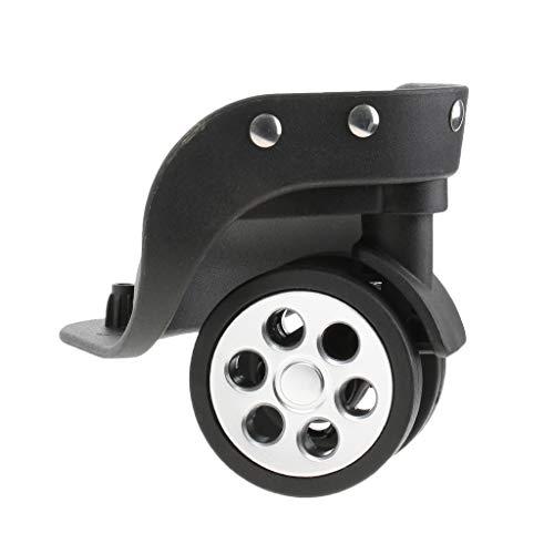 ensemble de 4 Raccords express TOOGOO Roulettes de meubles a deux roues avec plaque de fixation