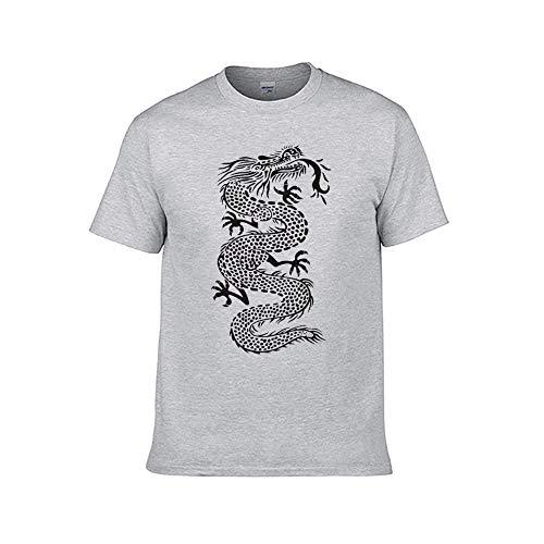 Heren Oosterse Draak Vintage Retro Art Mode T-Shirt Tiener Volwassen Grafische Tops Casual Tee