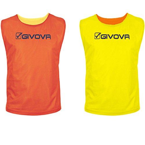Givova Double, Casacca Sportiva Uomo, Multicolore (Arancione/Giallo), S