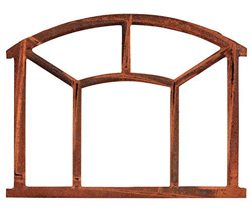 style antique Fenêtre ronde à barreaux fer forgé//rouille 43cm