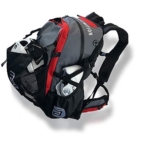 CADOMOTUS Waterflow-Sportrucksack: oft bei Rad- und Eislaufwettbewerben eingesetzt, wetterfest - rot (geeignet für unterwegs).