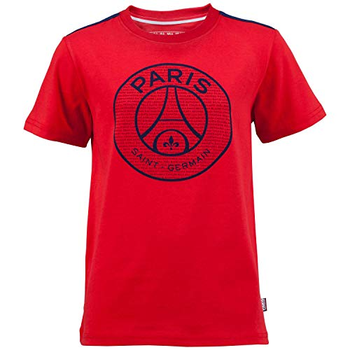 T-Shirt PSG–offizielle Kollektion PARIS SAINT GERMAIN–Kindergröße 110 rot