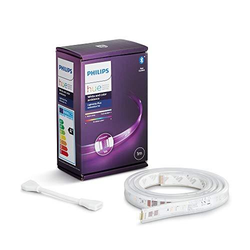 Philips Hue White and Color Lightstrip, Striscia LED Smart da 1m, con Bluetooth (estensione per Kit base da 2m), 1600 Lumen