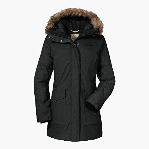 Schöffel Damen Down Parka Storm Range I L wetterfeste und warme Daunenjacke für Damen, leichte und atmungsaktive Winterjacke