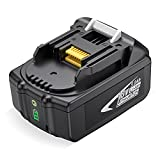 OMBAR 5.0Ah 18V Litio Ion Batería, Compatible con Makita BL1860B BL1860 BL1850B BL1850 BL1845 BL1840 BL1830B BL1830 BL1820 BL1815 LXT-40