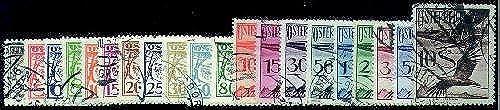 Goldhahn  erreich Nr. 468-487 gestempelt Flugpost-Flieger Kranich 1925 Briefürken für Sammler