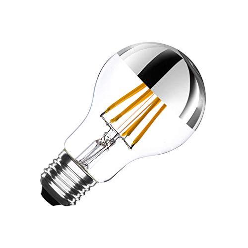 LEDKIA LIGHTING Bombilla LED E27 Casquillo Gordo Regulable Filamento Chrome Reflect Classic A60 3.5W
