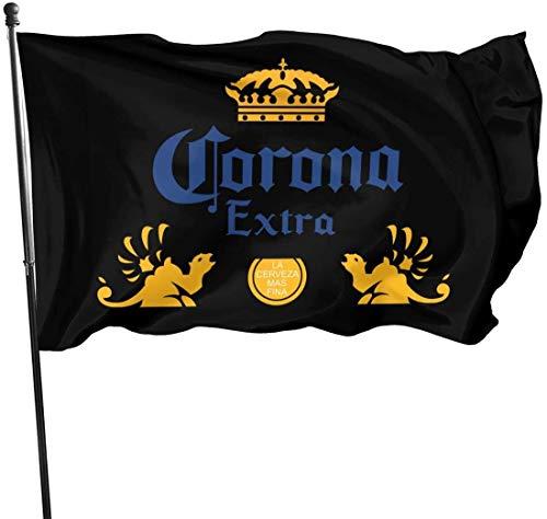 GDHGD Outdoor Flag 3x5 Fuß Corona Extra Bier dekorative Flagge für Hinterhof, Zuhause, Party