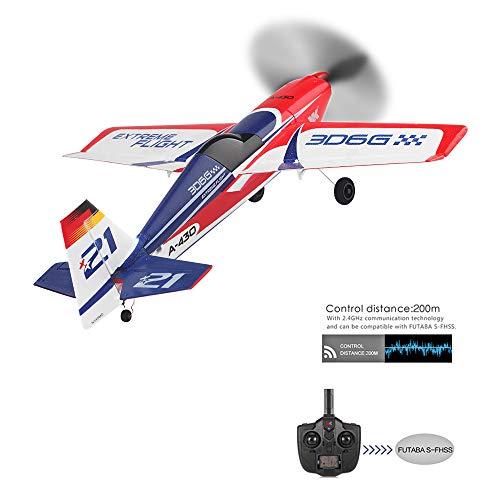 Eariy RC Flugzeug mit Bürstenloser Motor, Drone mit 2.4G Kommunikationstechnologie,6-Achsen Gyro,RC Starrflügelflugzeug aus EPS,Geschenke für Freunde und ferngesteuerte Spielzeugfans