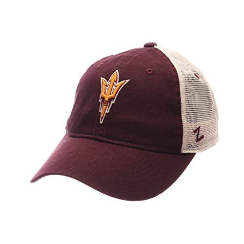 NCAA Zephyr Arizona State Sun Devils Mens University Relaxed Hat, Adjustable, Team Color/Stone
