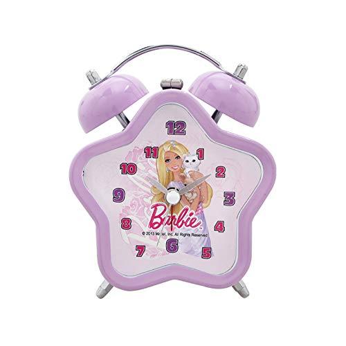 Luxuryclock Wecker Mickey Retro Kinder, Jungen Und Mädchen Wecker Stille Schüler Kleine Wecker Kreation, Rosa Barbie Star Purple-3