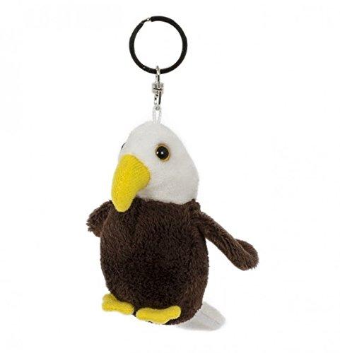 Unbekannt Schlüsselanhänger Weißkopfseeadler, aus Plüsch, Tier Tiere, Adler Vogel
