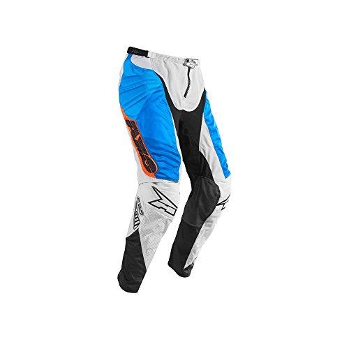 AXO skibroek Prisma, wit/blauw/oranje, maat 46