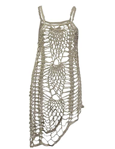 shermie Women's Airy Crochet Lace Swimsuit Cover Ups Beige S