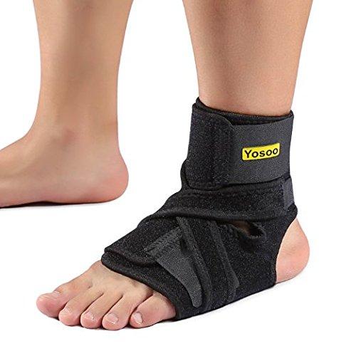 Yosoo Knöchelbandage Fußbandage Atmungsaktive Einstellbare Sprunggelenk Unterstützung für Arthritis Verstauchungen und Sport für Rechter und Linker Fuß Damen und Herren