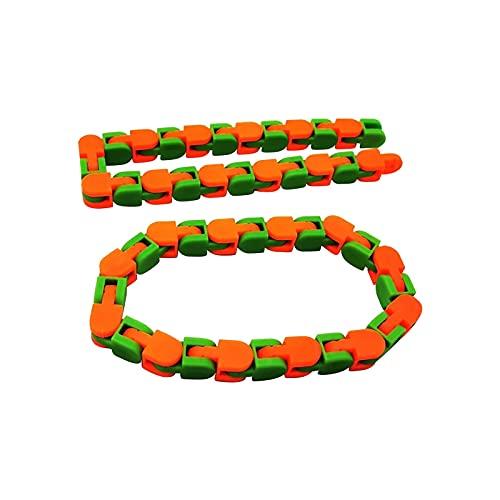 ELKeyko Coloré Puzzle sensoriel sensoriel Fidget Jouets Wacky Tracks Snap et clic touffe Enfants Autisme Snake Puzzles Classic Sensory Toy Soulagement du Stress (Color : C)