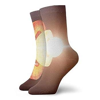 Unisex High Ankle Cushion Crew Socks Earth Artwork Casual Sport Socks