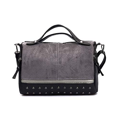 New Square Bag New Quality PU Leather Women Handbag Rivets Solid Big Capacity Tote Shoulder Messenger Bags,C,28X20X13 CM