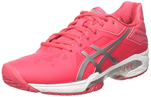 ASICS Gel-Solution Speed 3, Scarpe da Tennis Donna, Multicolore (Rouge Red/Silver/White), 37 EU