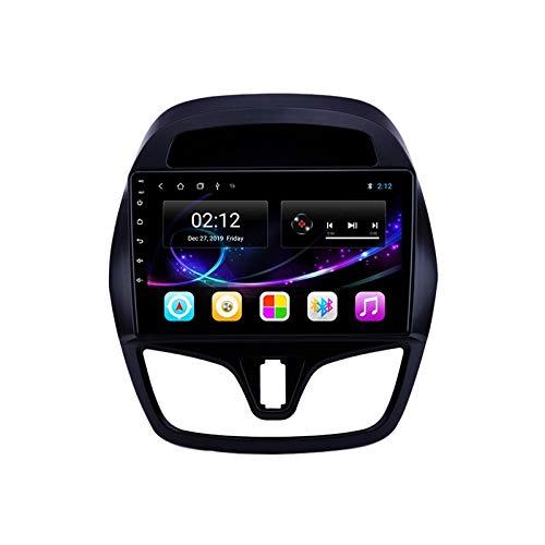 2 DIN Radio De Coche, Autoradio con Bluetooth Manos Libres 9' Pantalla Táctil/Mirroring De La Pantalla/FM Tuner/SD Apoyo DSP Navegación GPS, para Chevrolet Spark 2015-2018,Quad Core,4G WiFi 1+32