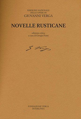 Novelle rusticane. Ediz. critica