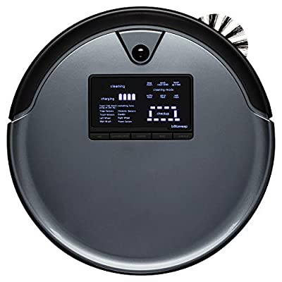 bObsweep PetHair Plus Robotic Vacuum Cleaner and Mop, Charcoal