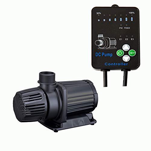 JEREPET Aquarium 24V DC Return Pump with Controller,Ultra Quiet, Submersible or External Water Pump for Fish Tank,Sump,Fountain (4000LPH)