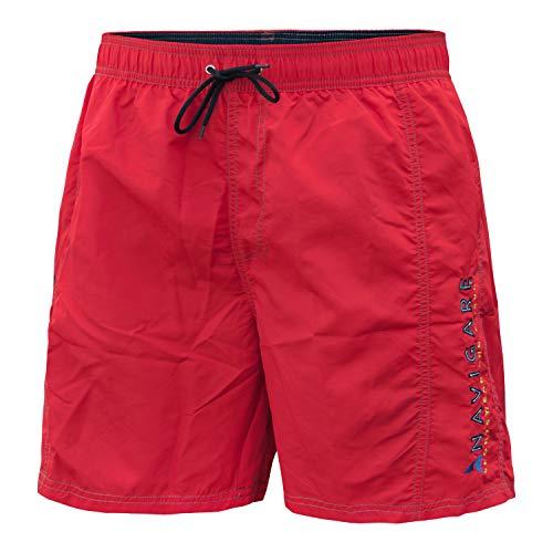 Costume Mare Uomo Navigare Boxer Short Taglie Forti Art.8350 (Red Race - 3XL / 56)
