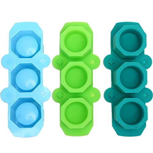 YYCFB Juego de 3 moldes de silicona en forma de octágono para...
