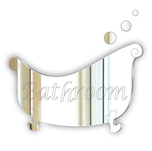 Black Friday Sale * Bathroom Decorative Stylish Plaque/Sign Glass Effect Acrylic Mirror Plaque