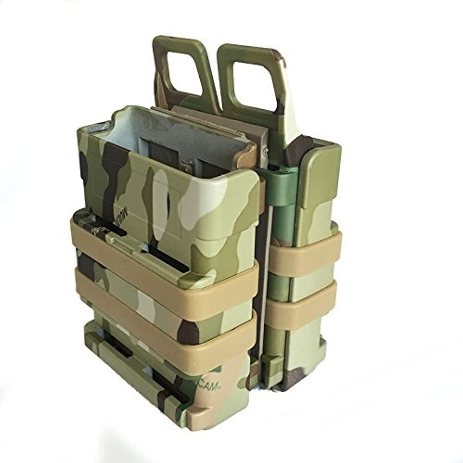 FastMag FAST DOUBLE Magazine Holster Pouch Set MOLLE SYSTEM Multicam (MC) by AirSoft