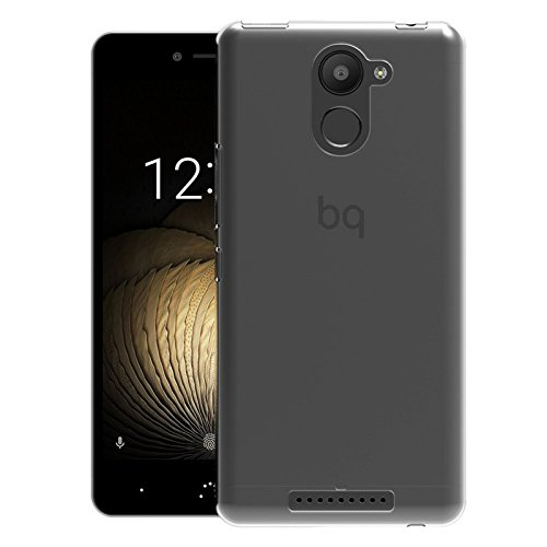 TBOC® Transparent Gel TPU Hülle für bq Aquaris U Plus (5.0 Zoll) Superdünn Flexibel Silikonhülle