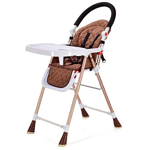 Qujifangedcy Kinderen Eetkamerstoel, Verstelbare Eet met Speeltafel Multifunctionele 2 in 1 Opvouwbare Kinderstoel, voor Thuis, voor 0-6 Jaar Oude Kinderen