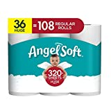 Angel Soft Toilet Paper, Huge Rolls, 36 Count of 321 Sheets Per Roll