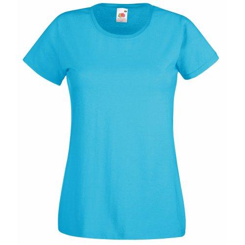 Fruit of the Loom Damen Poloshirt blau L