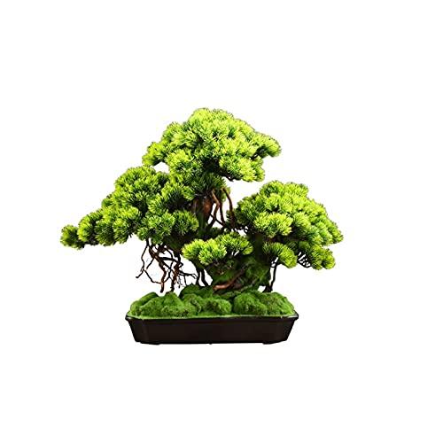 YUXINYAN Decorar Simulación Beauty Pine Tree Bonsai Árbol de simulación Jardín al Aire Libre Decoración para el hogar Simulación China Árbol Planta Fake Bonsai 21.65 Pulgadas Adornos (Color : A)