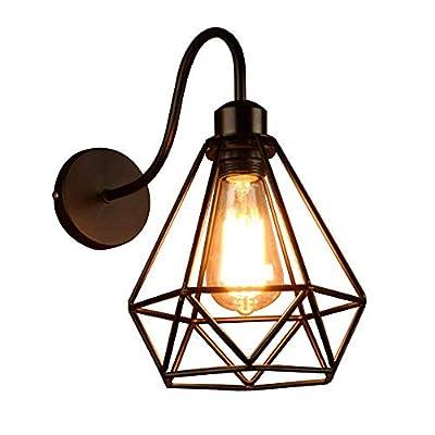 Lámpara de pared Voltaje: AC 110V-240 V; base de la lámpara: E27; potencia máxima: 60 W; material de pantalla de lámpara: hierro forjado; Bombilla disponible: bombilla LED / lámpara de bajo consumo / halógena. Estilo de lámpara de pared: Rústico / mo...