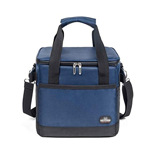 Sdesign 10L Insulation Lunch Bag, Waterproof Oxford Leakproof Cooler Bag with Detachable Shoulder Strap for Adults, Double Thicken Heat Preservation Cooler Bag for Lunch Travel Picnic (Size : 35L)