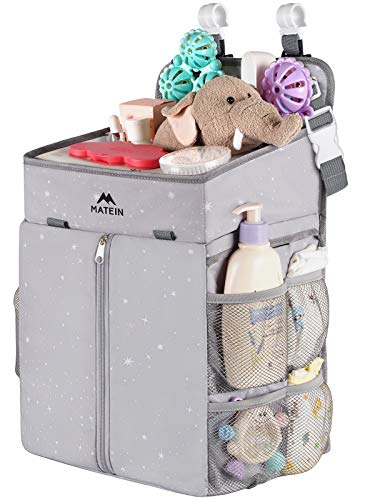 Hanging Diaper Caddy, Portable Diaper Organizer Stacker, Nursery Storage for Changing Table, Crib, Playard or Baby Stroller - Baby Gifts for Newborn Boy and Girl
