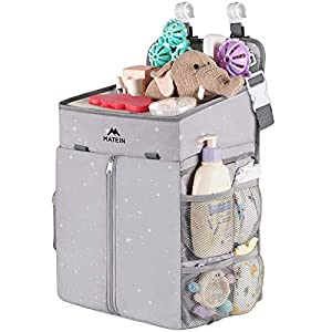 Hanging Diaper Caddy, Portable Diaper Organizer Stacker, Nursery Storage for Changing Table, Crib, Playard or Baby Stroller – Baby Gifts for Newborn Boy and Girl